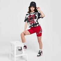 Jordan Girls' Tie Dye Logo Cycle Shorts Junior - Red - Kids