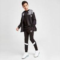 11 Degrees Cut & Sew Poly Track Pants Junior - Black - Kids