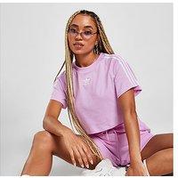adidas Originals 3-Stripes Essential Crop T-Shirt - Purple - Womens