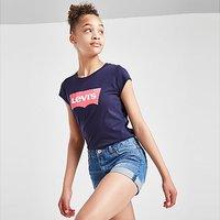 Levis Girls' Denim Girlfriend Shorts Junior - Blue - Kids