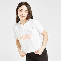 Puma Girls' Core Crop T-Shirt Junior - White - Kids