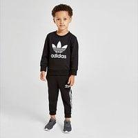 adidas Originals Trefoil Logo Crew Tracksuit Infant - Black - Kids