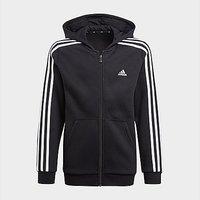 adidas Essentials 3-Stripes Hoodie - Black