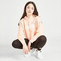 Puma Girls' Core Crop Hoodie Junior - Orange - Kids