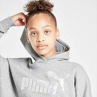 Puma Girls' Core Crop Hoodie Junior - Grey - Kids