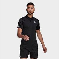 adidas Tennis Club  3-Stripes Polo Shirt - Black