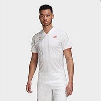 adidas FREELIFT TENNIS T-SHIRT ENGINEERED - White