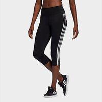 adidas Believe This 2.0 3-Stripes 3/4 Leggings - Black  - Womens