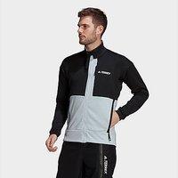 adidas Terrex Tech Fleece Hiking Jacket - Black  - Mens