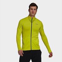 adidas Terrex Multi Primegreen Full-Zip Fleece Jacket - Acid Yellow - Mens