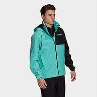 adidas Terrex Multi RAIN.RDY Primegreen Two-Layer Rain Jacket - Acid Mint - Mens