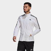 adidas Marathon 3-Stripes Jacket - White  - Mens