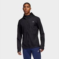 adidas Own The Run Hooded Jacket - Black - Mens