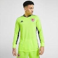 adidas Wales 2020 Home Goalkeeper Shirt - Green - Mens