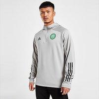 adidas Celtic FC Track Hoodie - Grey - Mens