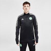adidas Celtic FC Training 1/4 Zip Top - Black - Mens