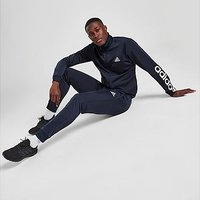 adidas Badge of Sport Poly Linear Tracksuit - Navy - Mens