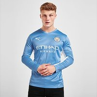 Puma Manchester City FC 2021/22 Long Sleeve Home Shirt - Blue - Mens