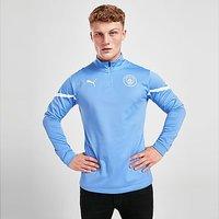 Puma Manchester City FC Pre Match 1/4 Zip Top - Blue - Mens