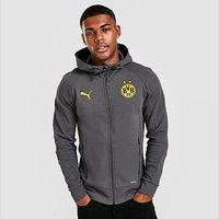 Puma Borussia Dortmund Travel Hoodie - Grey - Mens