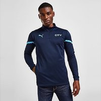Puma Manchester City FC Pre Match 1/4 Zip Top - Navy - Mens