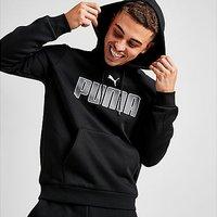 Puma Core Logo Overhead Hoodie - Black - Mens