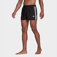 adidas Classic 3-Stripes Swim Shorts - Black - Mens
