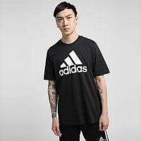 adidas Essentials Big Logo T-Shirt - Black  - Mens