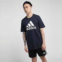 adidas Essentials Big Logo T-Shirt - Legend Ink  - Mens