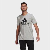 adidas Essentials Big Logo T-Shirt - Medium Grey Heather  - Mens