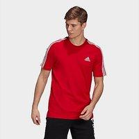 adidas Essentials 3-Stripes T-Shirt - Scarlet - Mens
