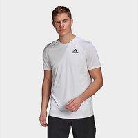 adidas Club Tennis 3-Stripes T-Shirt - White  - Mens
