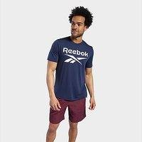 Reebok Workout Ready Supremium Graphic Tee - Vector Navy - Mens
