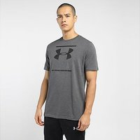 Under Armour Sportstyle Logo T-Shirt - Charcoal Medium Heather - Mens