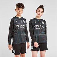 Puma Manchester City FC 2021/22 GK Home Shirt Junior - Black - Kids