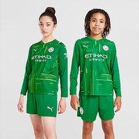 Puma Manchester City 21/22 Away Goalkeeper Shirt Junior - Green - Kids