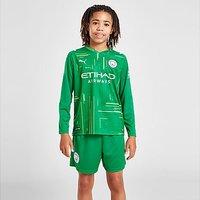 Puma Manchester City 21/22 Away Goalkeeper Short Junior - Green - Kids