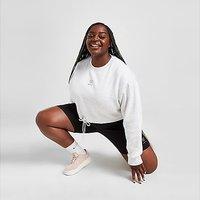 Pink Soda Sport Essentials Plus Size Cropped Crew Neck Sweatshirt - Grey - Womens