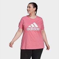 adidas Core Badge Of Sport Plus Size T-Shirt - Rose Tone