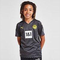 Puma Borussia Dortmund FC 2021/22 Away Shirt Junior - Grey - Kids