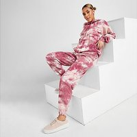 Ellesse Tie Dye Oversized Joggers - Pink - Womens