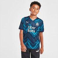 Puma Olympique Marseille 2021/22 Away Shirt Junior - Navy - Kids