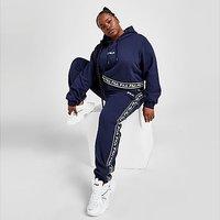 Fila Jacquard Plus Size Fleece Joggers - Navy - Womens