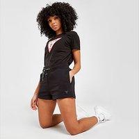 GUESS Triangle Logo Fleece Shorts - Black - Womens