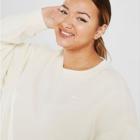 Nike Trend Fleece Plus Size Crew Sweatshirt - Brown - Womens