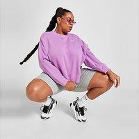 Nike Trend Fleece Plus Size Crew Sweatshirt - Purple - Womens