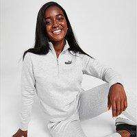 Puma Core Fleece 1/4 Zip Sweatshirt - Grey - Womens
