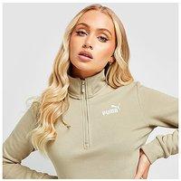 Puma Core Fleece 1/4 Zip Sweatshirt - Beige - Womens