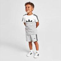 adidas Originals Sliced T-Shirt/Shorts Set Infant - Grey - Kids