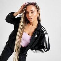 adidas Originals 3-Stripes Woven Track Top - Black - Womens